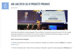 """Azienda Banca: """"ABI LAB 2019: Gli 8 progetti premiati"""""""