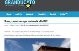 """Telegranducato.it: """"Borsa; concorso e apprendimento alla CRV"""""""