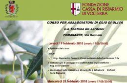 Corso per assaggiatori di olio di oliva: la Fondazione Cassa di Risparmio di Volterra ripete l'iniziativa