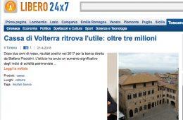 """247.Libero.it: """"Cassa di Volterra ritrova l'utile: oltre tre milioni"""""""