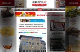 """Go News: """"Cassa di Risparmio di Volterra con il CNR per l'innovazione delle imprese"""""""