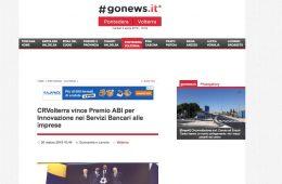 """GoNews.it: """"CRVolterra vince Premio ABI per Innovazione nei Servizi Bancari alle imprese"""""""