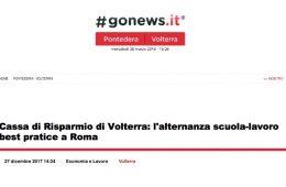 """GoNews: """"Cassa di Risparmio di Volterra: l'alternanza scuola-lavoro best practice a Roma"""""""