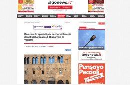 """GoNews.it """"Due caschi speciali per la chemioterapia donati dalla Cassa di Risparmio di Volterra"""""""