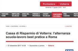 """GoNews: """"Cassa di Risparmio di Volterra: l'alternanza scuola – lavoro best practice a Roma"""""""