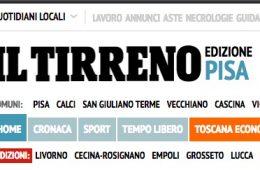 """Il Tirreno:  """"Con la Cr Volterra app gratuita per i pagamenti"""""""