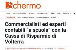 """Lo Schermo: """"Commercialisti ed esperti contabili 'a scuola' con la Cassa di Risparmio di Volterra"""""""