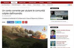 """PisaInforma.it: """"Un conto corrente per aiutare le comunità colpite dall'incendio"""""""