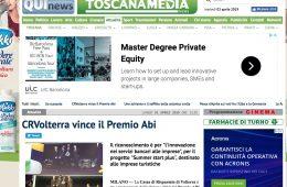 "Toscana Media News: ""CRVolterra vince il Premio Abi"""