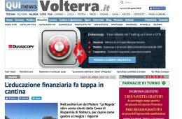 """QuiNews Volterra.it: """"L'educazione finanziaria fa tappa in cantina"""""""