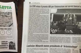 """La Spalletta: """"La CRV vince il premio ABI"""""""